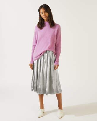 Jigsaw Velvet Midi Skirt