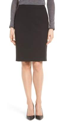 BOSS Vilea Tropical Stretch Wool Pencil Skirt