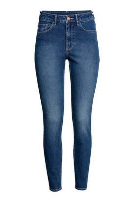 H&M Skinny High Ankle Jeans - Dark denim blue - Women