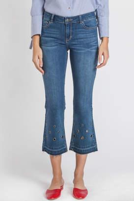 Velvet Heart Ellie Grommet Flare Crop Jeans