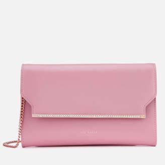 Ted Baker Women's Miiaa Crystal Bar Clutch Bag - Dusky Pink