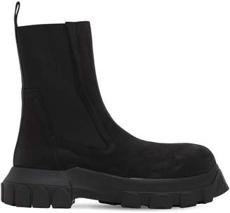 Rick Owens LEATHER BOOTS W/ RUBBER SOLE