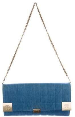 Chanel Denim Square Quilt Flap Bag