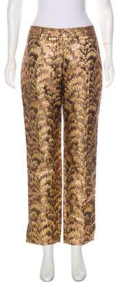 Dolce & Gabbana Brocade Mid-Rise Pants