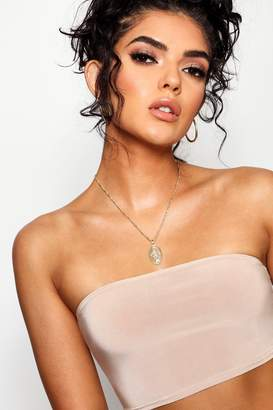 boohoo Oval Sovereign Pendant Necklace