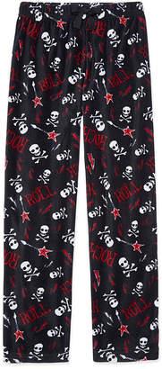 Arizona Microfleece Skull Print Pajama Pants-Boys 4-20 & Husky