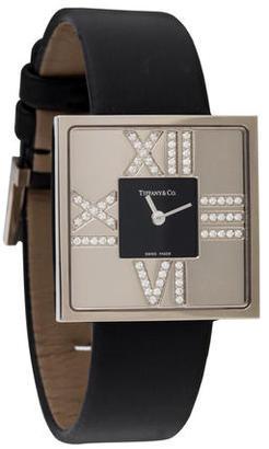 Tiffany & Co. Atlas Diamond Watch w/ Tags $4,295 thestylecure.com