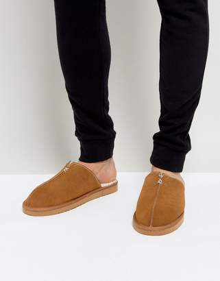 Dunlop Slip On Suede Slippers
