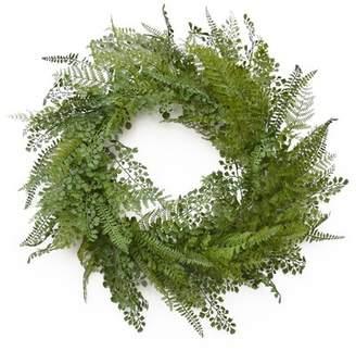 Floral Home Decor Wispy 24 Fern Wreath