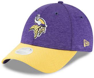 New Era Women's Minnesota Vikings On Field Sideline Home 9FORTY Strapback Cap