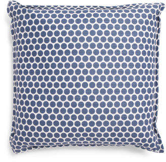 22x22 Denim Dot Print Pillow