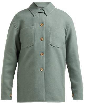 Acne Studios Odenna Boiled Wool Blend Overshirt - Womens - Khaki