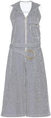 Chloé Striped denim jumpsuit
