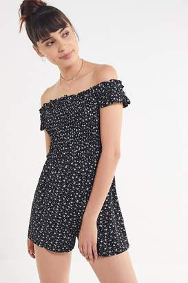 Urban Outfitters Smocked Off-The-Shoulder Romper