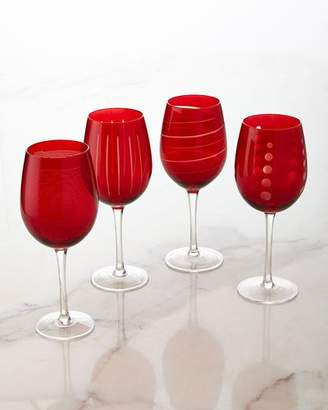 Mikasa Cheers Ruby Wine Glasses, 4-Piece Set