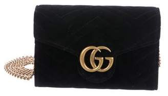 d39abfe8613 Gucci Velvet GG Marmont Wallet On Chain