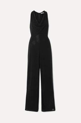 Alice + Olivia Alice Olivia - Salem Crystal-embellished Georgette Jumpsuit - Black