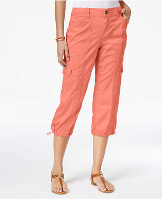 Style&Co. Style & Co Petite Cargo Capri Pants, Created for Macy's