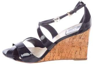 Christian Dior Patent Leather Cage Wedges