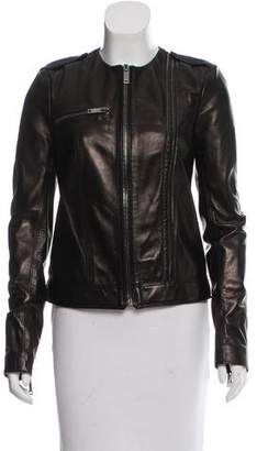 Redemption Collarless Leather Jacket