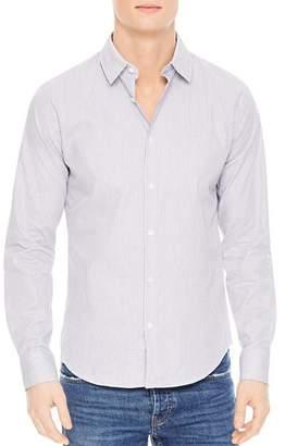Sandro Classic Micro Check Slim Fit Button-Down Shirt
