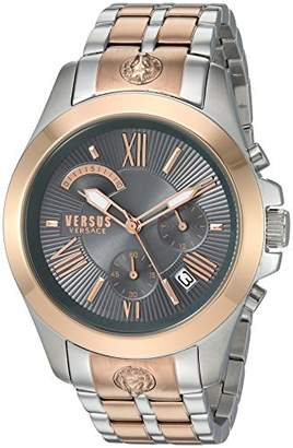 Versus By Versace Men's 'Chrono Lion Extension' Quartz Gold and Stainless Steel Watch