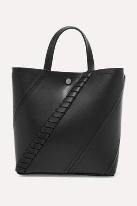 Proenza Schouler Hex Paneled Textured-leather Tote - Black