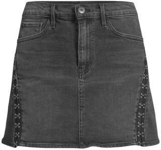 92a0104e5 3x1 Denim Corset Trim Mini Skirt