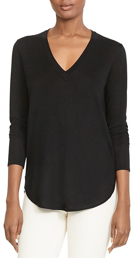 Lauren Ralph Lauren Lauren Ralph Lauren V-Neck High Low Sweater