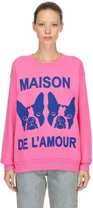 Gucci Maison De L'amour Cotton Sweatshirt