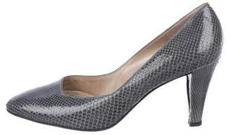 Bruno Magli Leather Embossed Pumps