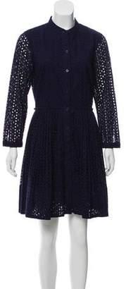 MICHAEL Michael Kors Eyelet Knee-Length Dress