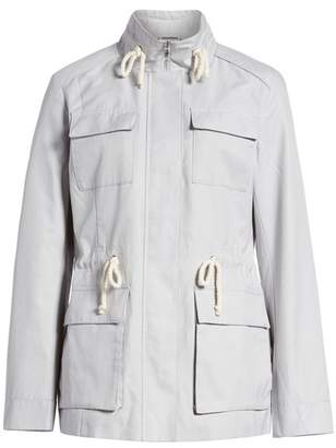 Cole Haan Safari Jacket With Stand Collar