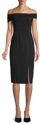 Jay Godfrey Off-The-Shoulder Twist Sheath Dress