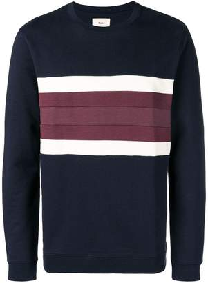 Folk stripe detail sweater