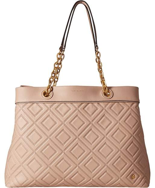Tory Burch Fleming Triple-Compartment Tote Tote Handbags - NEW MINK - STYLE