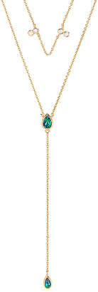 Elizabeth Stone Double Tear Drop Layered Necklace