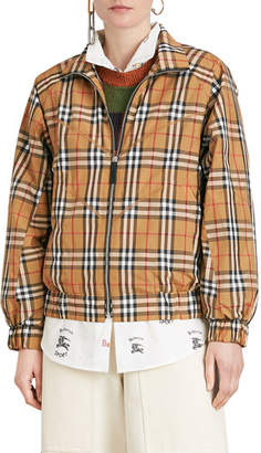 Burberry Harrington Vintage Check Topstitch Jacket