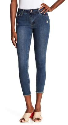 Tractr Raw Hem Skinny Ankle Jeans