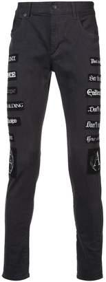 Undercover applique patch jeans