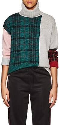 TOMORROWLAND Women's Colorblocked Wool-Blend Turtleneck Sweater - Gray