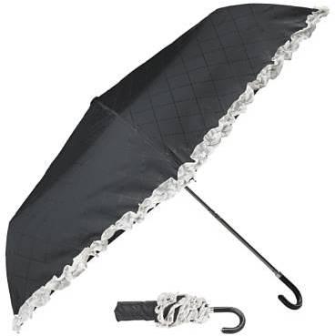 Quilt Effect Frill Umbrella