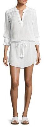 Heidi Klein Seychelles Smocked Coverup Tunic, White $295 thestylecure.com