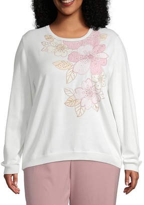 Alfred Dunner Home For The Holidays Asymmetrical Sweater - Plus