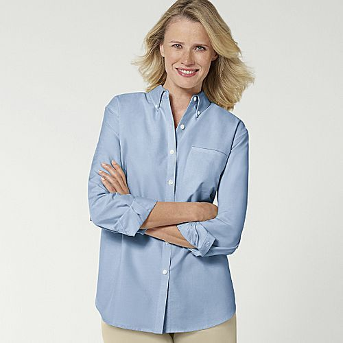 Cabin Creek® Wrinkle Free Solid Oxford - L/S