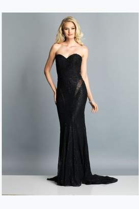 Dave and Johnny Sexy Strapless Gown