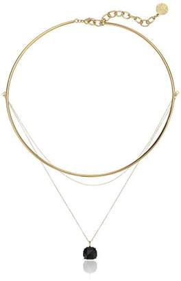 Vince Camuto Delicate Collar and Chain Swag Jet Pendant Necklace
