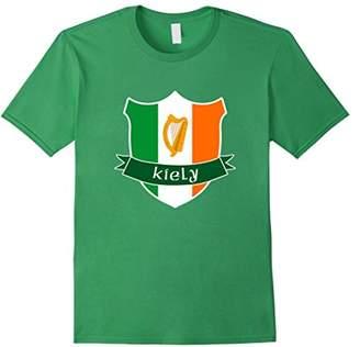 Kiely Irish Name T Shirt Ireland Flag Harp