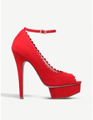 Miss KG Freda suedette platform sandals