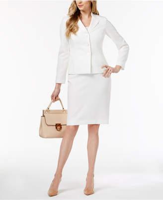 Le Suit Three-Button Jacquard Skirt Suit